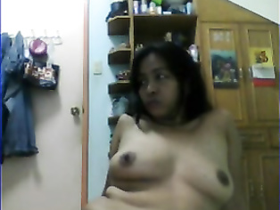 Mature manipuri slut naked on webcam exposing her big boobs and fingering her pussy with her finger.