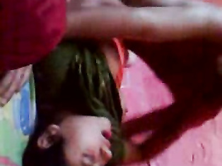 Pune aunty getting boobs squeezed one by one during sex in missionary position in this MMS.