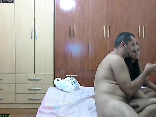 Married amateur Indian couple getting horny in their bedroom, wife trying different lingerie in front of her husband who is holding his handy-cam to record her naked and in lingerie before they got engaged in full blooded hardcore sex in various style.