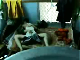 Naughty Hyderabadi guy setting up a hidden cam then getting his girl in bed stripping her off her top taking off her bra to expose and suck her juicy tits one by one and fucked in missionary style until he cum inside her girlfriend.