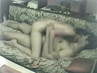 Horny Bangla man having sex with women and taping it on hidden cam showing a plump babe stripping naked getting fucked missionary style and then getting on top showing her big round ass cheeks.
