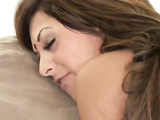 Beautiful Pakistani housewife with her man in bedroom enagaged in exotic french kiss and pussy fingered