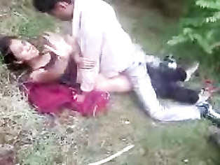 Young indian village couple fucking in forest caught by their friends recording their act!.