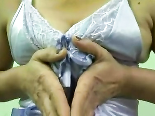 North Indian Housewife Exposing In Lingerie.