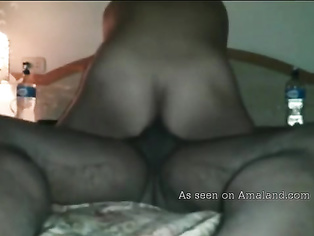 Big ass Desi chick rides cock.