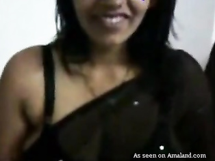 Big tit Desi girl gives blowjob.