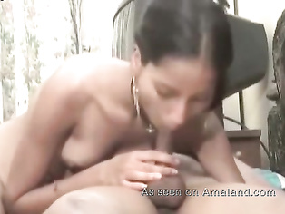 Indian chick licking a dick.
