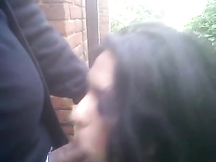 Kinky Indian couple public oral sex outside the office.