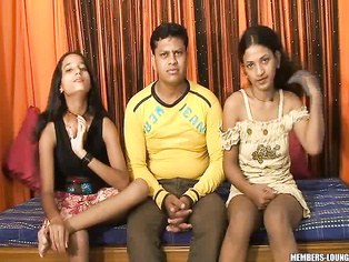 Feroze In a 3 Some With Tina And Nelo Hot Indian Teens.
