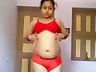 Hot Indian girl in nighty stripping