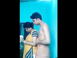 Desi Tamil Aunty Arpita with Innocent