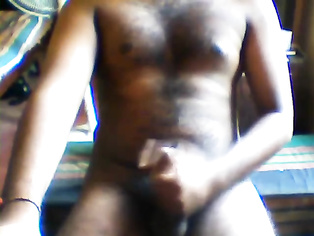 Srilankan Teen Boy masturbating with his uncut dick