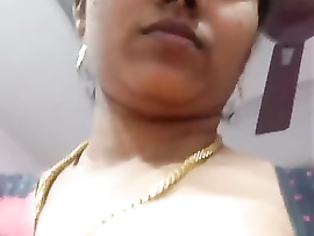 Indian Married aunty exposing herself to her husbands Friend