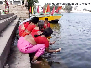 Tamil old aunties bathing gonga openly. HUGE BUTT & BOOBS!!!