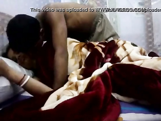 Newly married tamil housewife kissing her husband
