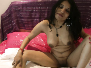 Kavya start off in a field, playing with her pussy and sucking on her tits until she bust out a dildo to finish the job.